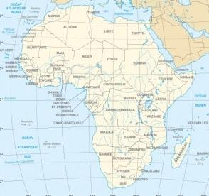 nom des pays africains
