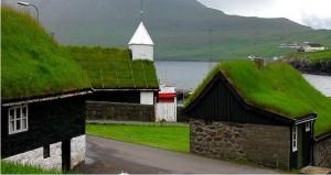 maison avec toiture gazon