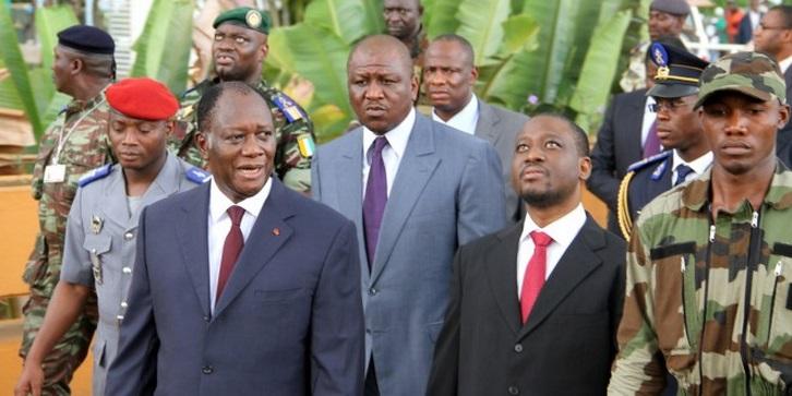 ouattara et son entourage