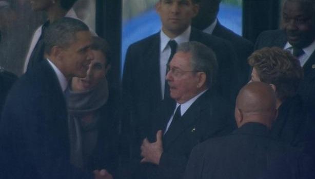 obama et raoul Castro