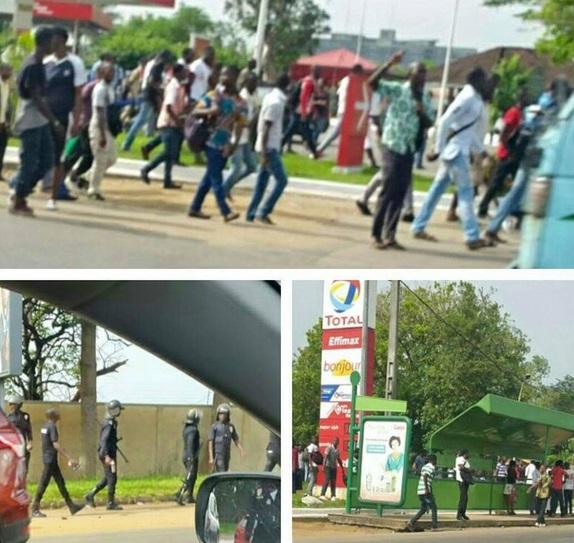 AFFRONTEMENT entre policier et etudiants