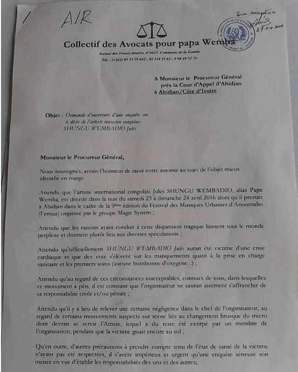 lettre collectif avocat