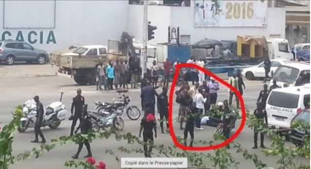 cortege president policier blesse