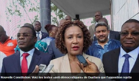 opposision Ivoirienne contre constitution
