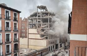Madrid: un immeuble de plusieurs étages éventré par une forte explosion ( Vidéo) - Bénin Web TV