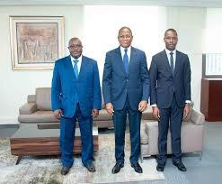 """Résultat de recherche d'images pour """"Le Ministre Bruno  Nabagné KONE a échangé hier lundi, avec le Maire d'Anyama, M. Amidou"""""""
